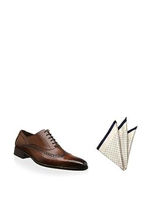 Ortiz & Reed Zapatos Oxford + Pañuelo de bolsillo SET-ZCP35-PO2