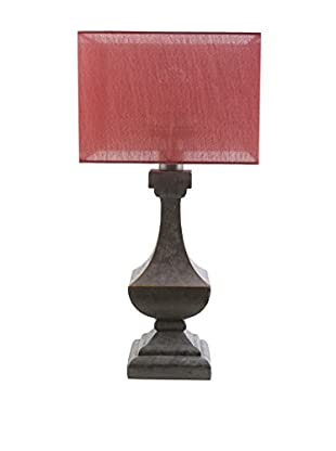 Surya Davis Outdoor Table Lamp, Coral/Antique Pewter
