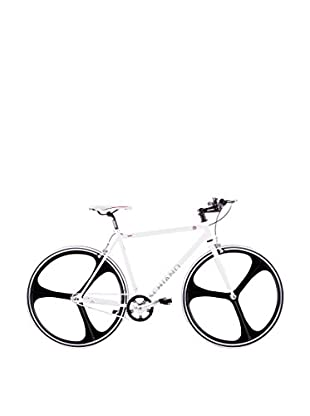 Schiano Fahrrad 28 Fixed Fly 52 Telaio Bianco Ruote Nere weiß/schwarz
