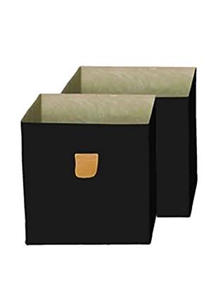 phoenix home Set, 2-tlg. Aufbewahrungsbox schwarz