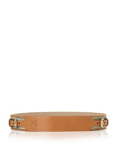 M Missoni Women's Two Buckle Belt (Beige/Yellow)