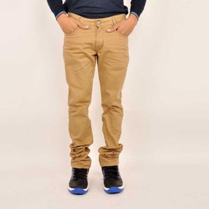 Mufti Khakhi Regular Fit Cotton Jeans For Men - 15002