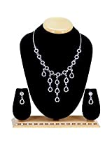 Austrian Diamond Necklace Set By Sanskruti