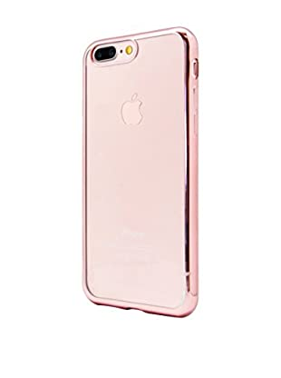 UNOTEC Hülle Tpu Gel iPhone 7 Plus Color Frame rosa