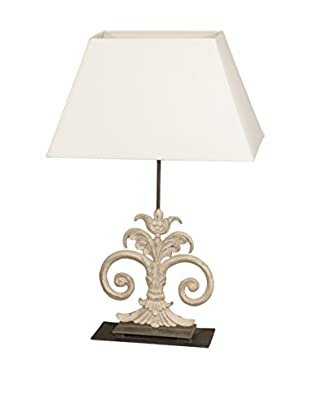 Jeffan Antique Scroll Table Lamp, White
