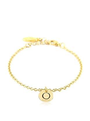 Ettika 18K Gold-Plated O Initial Chain Bracelet