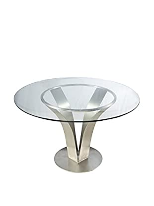 Armen Living Cleo Contemporary Dining Table, Multi