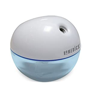Homedics Personal Cool Mist Ultrasonic Humidifier, White