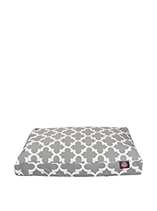 Trellis Small Rectangle Pet Bed, Grey