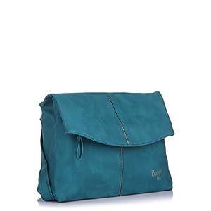 Baggit Leather Sling Bag, Blue