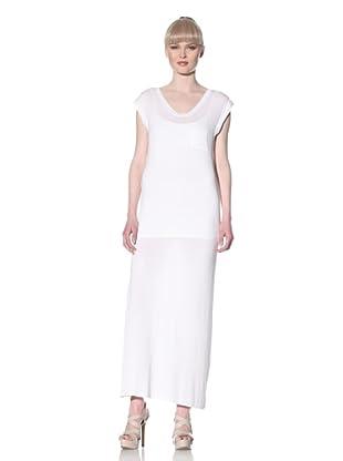 Norma Kamali Women's Cap Sleeve Tee Gown (White)