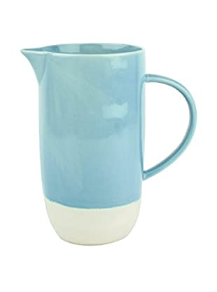 Canvas Home Shell Bisque Pitcher, Blue