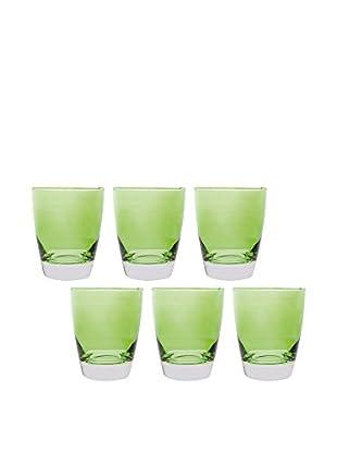 Molecuisine Glas 6er Set Happy Colour grün