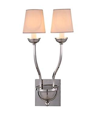 Urban Lights Vineland 2-Light Wall Lamp, Polished Nickel