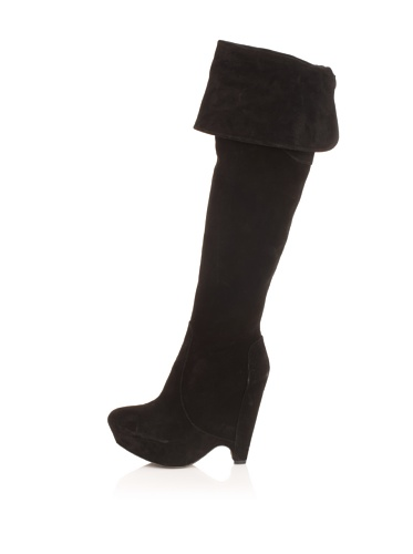 Pura Lopez Women's Platform Wedge Boot (Black)