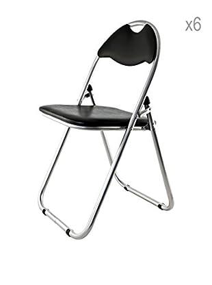 Stuhl 6er Set schwarz
