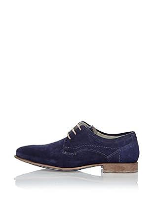 Fretz Men Zapatos Derby Sebastian (Azul Marino)