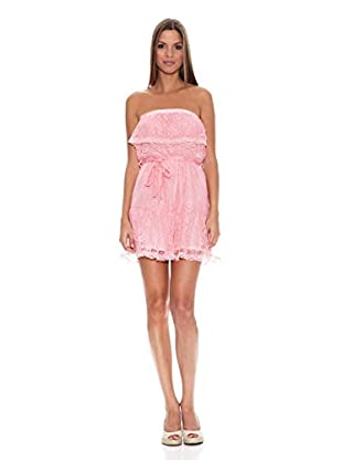 Tantra Vestido Strapless Lace (Rosa)