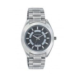 Titan ND1557SM01 Tycoon Men's Watch-Silver