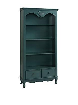 Coast to Coast 2-Drawer Bookcase, Blue