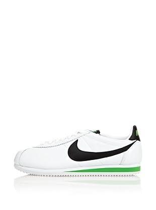 Nike Zapatillas Classic Cortez Lea (Blanco / Verde / Negro)