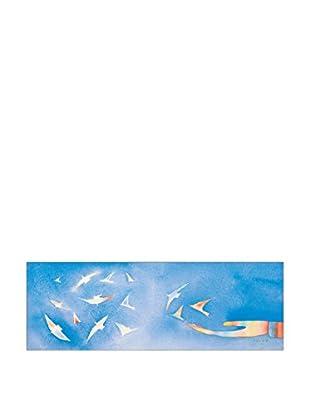ArtopWeb Panel Decorativo Folon Peace 52x150 cm