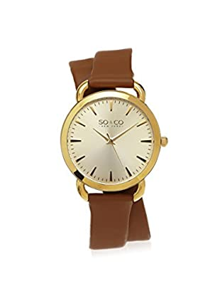 SO&CO New York Women's 5086.2 SoHo Analog Display Quartz Brown Watch