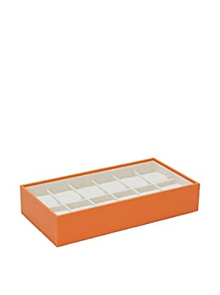WOLF 12-Watch Stackable Tray, Orange