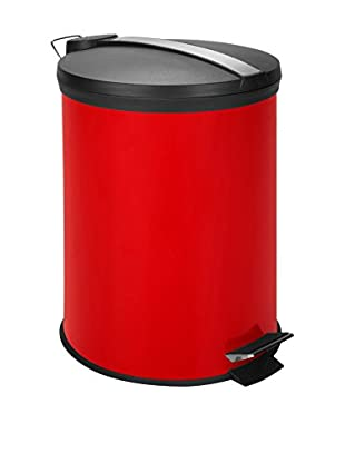 Honey-Can-Do 12L Step Trash Can Stainless, Red