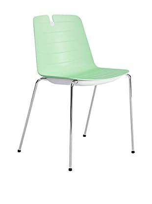 CONTRAST Stuhl 2er Set Mindy grün/weiß