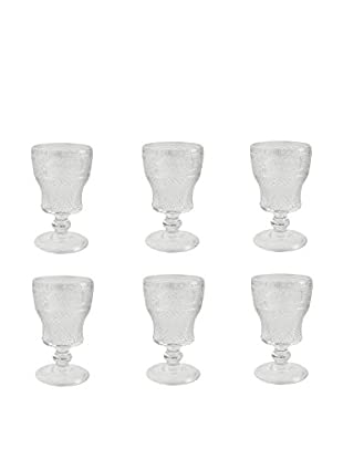 VILLA D'ESTE HOME Kelch 6er Set Prisma transparent