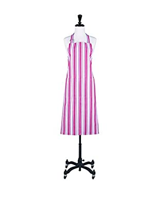 KAF Home Classic Stripe Apron, White/Red