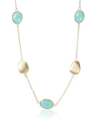 Rivka Friedman Mint Chalcedony Crystal Pebble Necklace