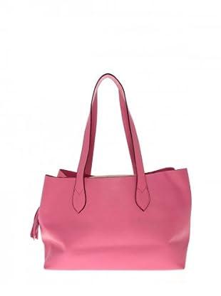 Elysa Tote-Bag mit Quaste (Fuchsia)