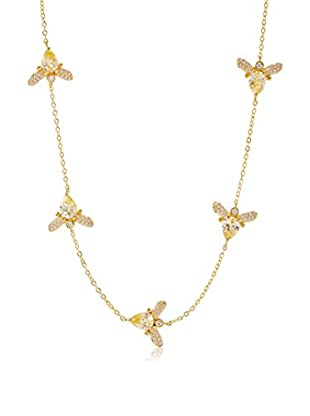 CZ by Kenneth Jay Lane Gold Bumblebee Stations Necklace
