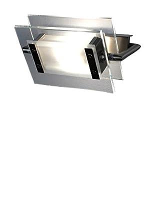 LEUCOS Wand- und Deckenlampe LED 360° 200 kristall/nickelgrau