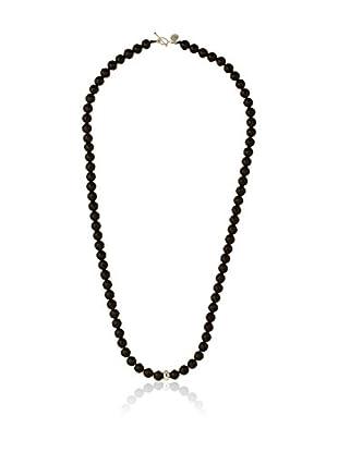 Alexandra Plata Collar Ónix
