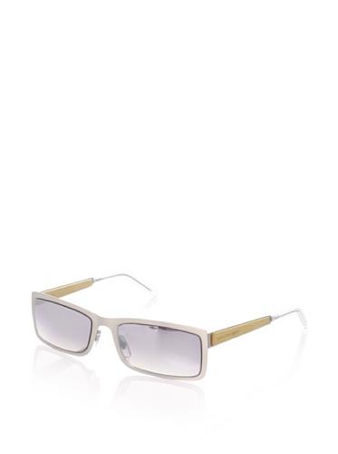 Alexander McQueen Women's AMQ 4131 Rectangular Sunglasses, Palladium