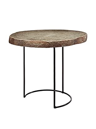 Artistic Lighting Short Stone Slab & Wire Frame Table, Natural