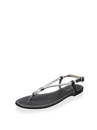 SK by Skemo Women's Palau Rope Flat Sandal (Silver)