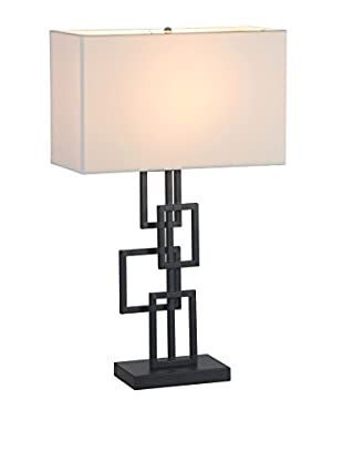 Zuo Step Table Lamp, White/Black