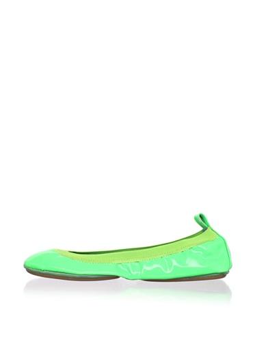 Yosi Samra Women's Neon Ballet Flat (Lime)