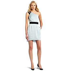 BCBGeneration Women's Elastic Back Dress, Light Sky, 4