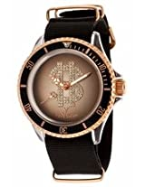 Toy Watch Brown Dial Black Canvas Strap Watch Mens Watch D02Pg