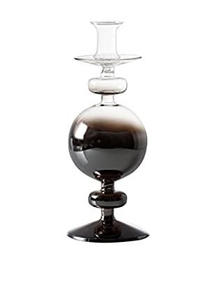 Torre & Tagus Smoke Glass Bulb Candle Stick, Tall