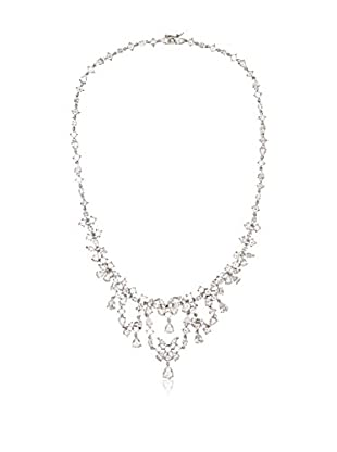 CZ by Kenneth Jay Lane Drape Front CZ Dramatic Necklace