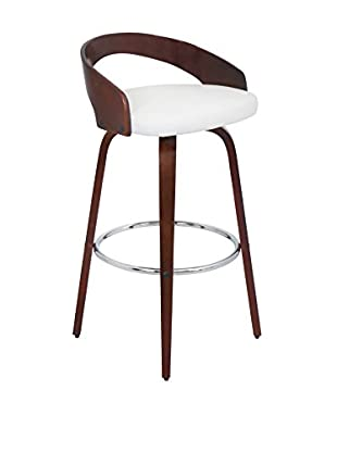 LumiSource Grotto Bar Stool, Cherry/White