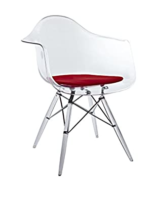 Modway Pyramid Dining Arm Chair, Red