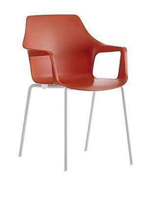 COLOS Stuhl 2er Set Vesper 2 rot/weiß