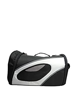 Pet Life Airline Approved Phenom-Air Collapsible Pet Carrier, Black/White, Large